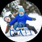Делаем зиму еще веселее: санки + снежколеп в подарок!