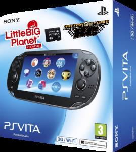 Приставка PS Vita Black 3G Bundle (MC 4Gb, LBP Voucher, MS RC Voucher)