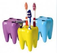 Подарок Подставка для зубных щеток Зубки