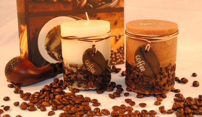 Купить Ароматизированная свеча - цилиндр Кофе