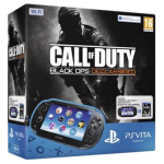 Приставка PS Vita Black WiFi Bundle (MC 4 Gb, Call of Duty BO Voucher)