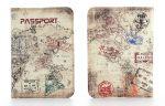 Подарок Кожаная обложка на паспорт путешественника