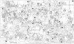 Подарок Обои-раскраски 'Пиратская карта' (60 х 100 см)