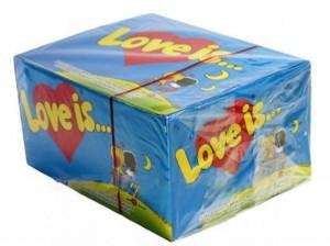 фото Блок жвачек 'Love is...' (банан-клубника) #2