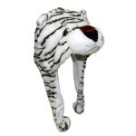 Подарок Шапка с ушками Белый тигр