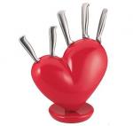 Подарок Набор ножей на подставке Love
