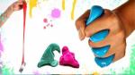 Подарок Жвачка для рук HandGum Светящийся Синий большая