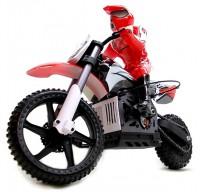 Мотоцикл на радиоуправлении Himoto Burstout MX400 Brushed, красный (MX400r)