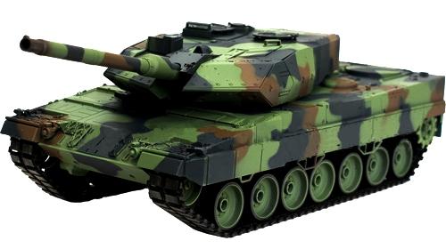 Купить Танк р/у Heng Long Leopard A6 с пневмопушкой и дымом, WL Toys