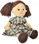 Кукла Карина в клетчатом платье