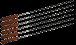 Набор шампуров Time Eco BBQ-JR003W (60 см)