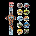 Детские часы Hot Wheels с проектором на 10 изображений