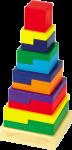 Деревянная игрушка 'пирамидка Квадрат'