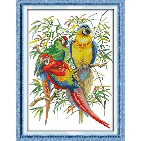 Набор для вышивания 'Яркие попугаи'