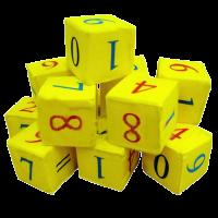 Набор кубиков 12 шт. Математика