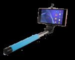 Подарок Монопод для селфи, селфи стик со шнуром UFT SS1 light blue