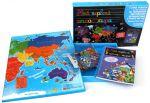 Книга Мой первый атлас мира (+ 87 магнитов и большая карта мира)