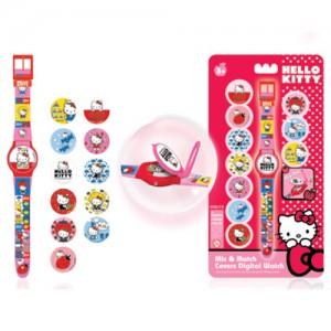 Часы Hello Kitty с набором сменных панелей для циферблата