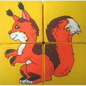 Кубики 'Собери картинку. Дикие животные'