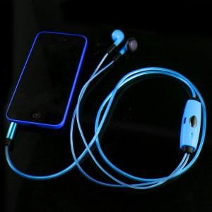 Подарок Светящиеся наушники (синие)