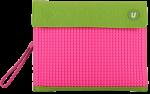 Подарок Клатч для планшета Upixel (Зелено-малиновый)