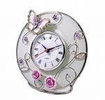 Подарок Настольные часы Charme de Femme 'Бабочка на чайной розе'
