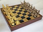 Шахматы 'Олимпийские игры' в деревянном футляре (синие)