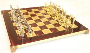 фото Шахматы 'Титаны' в деревянном футляре (красные) #3