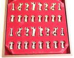 фото Шахматы 'Титаны' в деревянном футляре (красные) #5