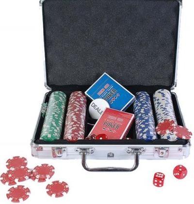 Купить Набор для покера: 200 фишек, 2 колоды в алюминиевом кейсе, Duke
