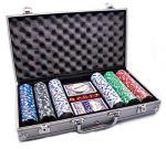 Набор для покера: 300 фишек, 2 колоды в алюминиевом кейсе