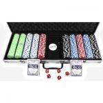 Набор для покера: 500 фишек, 2 колоды в алюминиевом кейсе