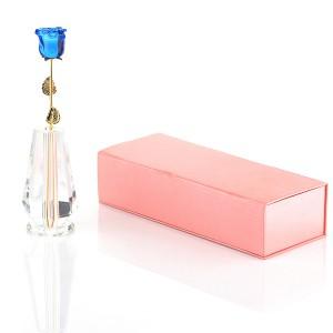 Подарок Роза из стекла Сваровски Mini (Голубая)