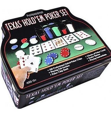 Купить Набор для покера в оловянном кейсе (200 фишек, 2 колоды), Duke