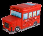 Детский пуф 'Автобус' (красный)