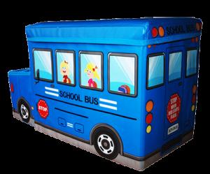Детский пуф 'Автобус' (синий)