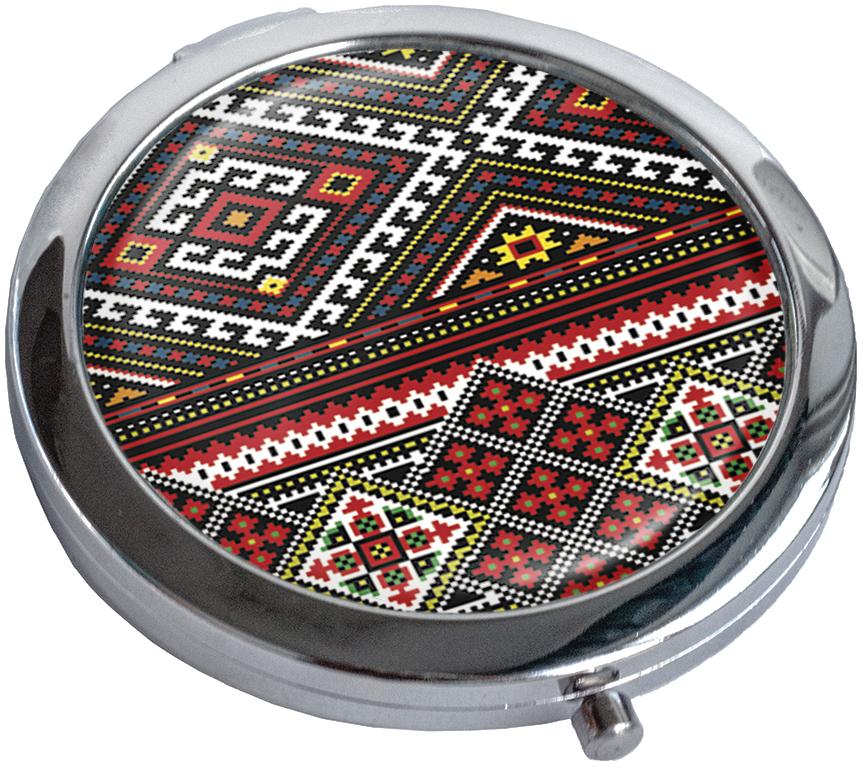 Зеркальце карманное 'Вышивка'
