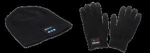 Подарок Зимняя шапка и перчатки со встроенной Bluetooth-гарнитурой