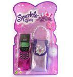 Телефон со звуковыми эффектами с сумочкой принцессы
