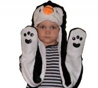 Подарок Шапка с лапками 'Пингвин'