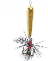 Мормышка вольфрамовая Lucky John. Чертик с тройником и мушкой . 5шт. (5430T-G)