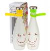 Подарок Стеклянная бутылка для воды Happy smile