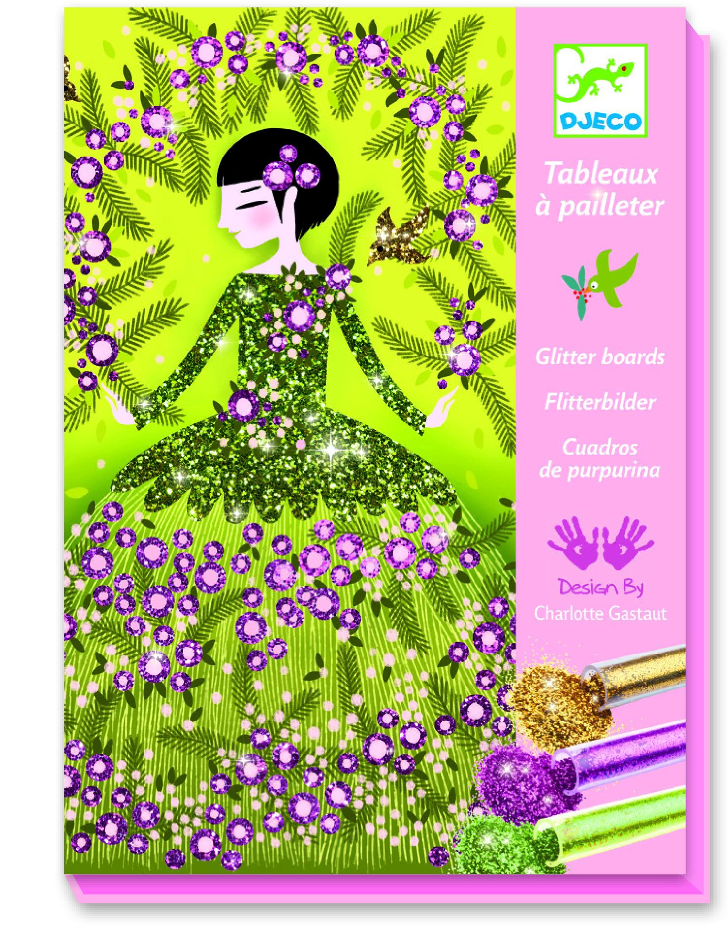 Купить Наборы для рисования, Комплект рисования блестками 'Блестящие наряды', DJECO