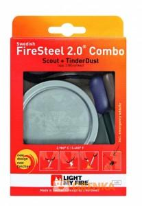 Набор для розжига Light My Fire FireSteel Scout 2.0 + TinderDust Combo (Navy)
