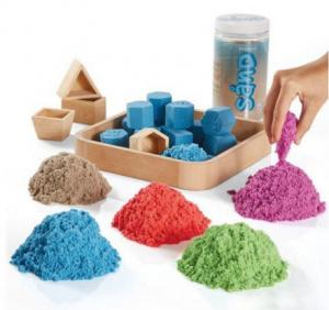 Подарок Кинетический песок + формочки, контейнер