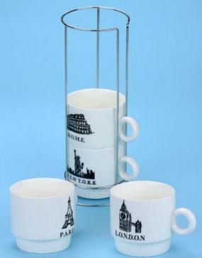 Купить Набор чашек 'Путешествие по миру'