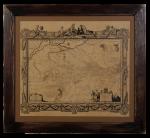 Подарок Картина на коже 'Генеральная карта Украины 1648 г.'