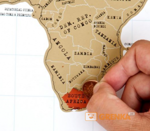 Подарок Scratch map настенная карта мира в подарочном тубусе (англ.)