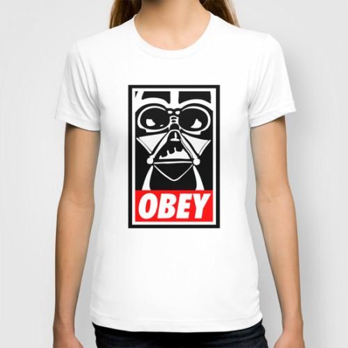 Купить Авторская футболка 'Obey Darth Vader - Star Wars', Risha Myasov