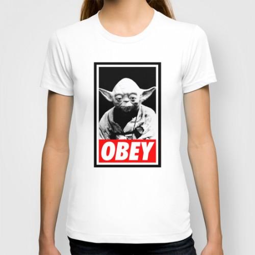 Купить Оригинальная дизайнерская футболка 'Obey Yoda - Star Wars', Risha Myasov